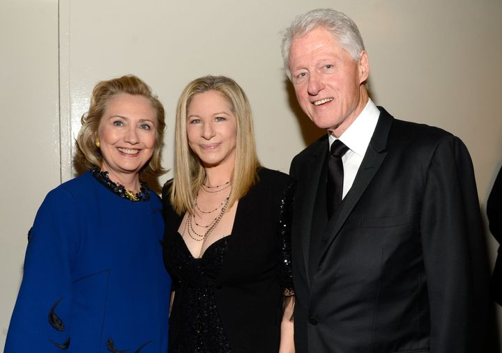 Barbra Streisand (center) has been outspoken in her support of Hillary Clinton.