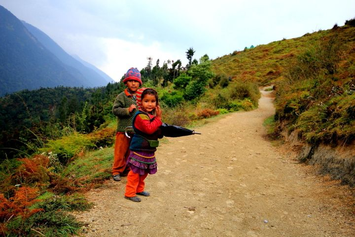 Cute kids of Wan village