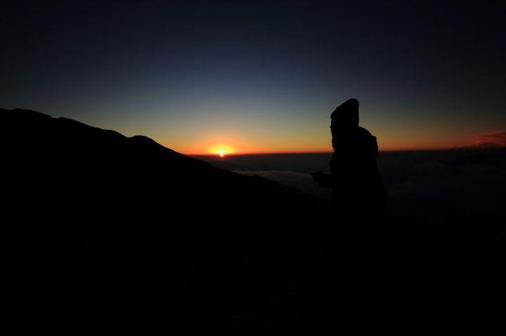 Sunset at Bhagwabhasa summit camp, a soul-refreshing experience