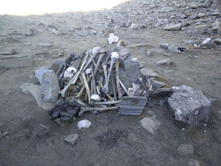 Human skeletons at Roopkund lake!