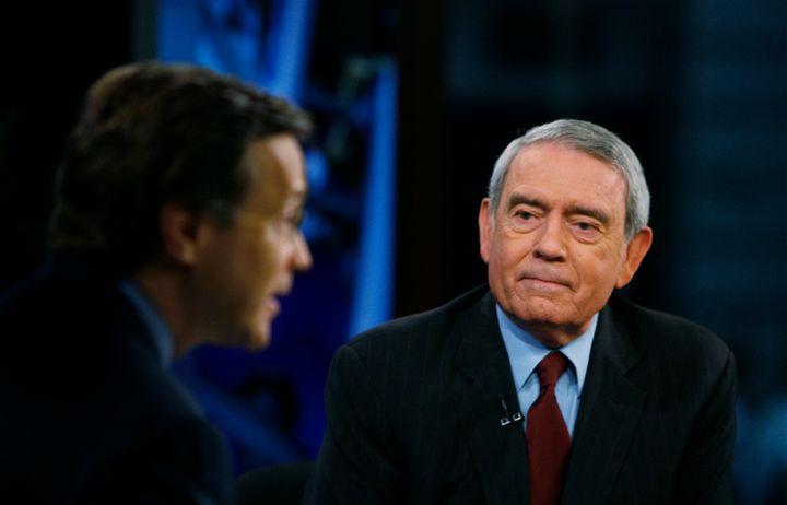 "Veteran TV journalist Dan Rather blasted Republican presidential candidate Donald Trump for making a ""direct threat of violen"