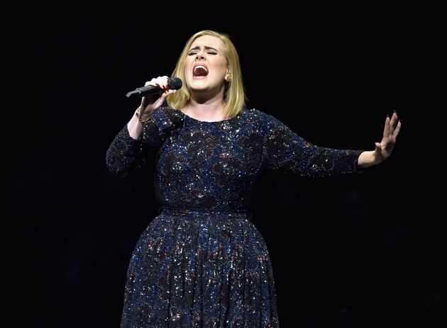 Adele, doing what she does