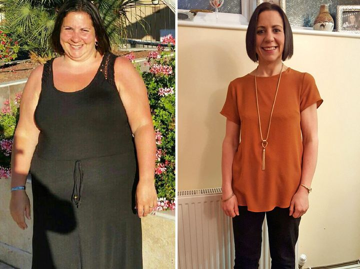 Meryem Davies before and after her dramatic weight loss.