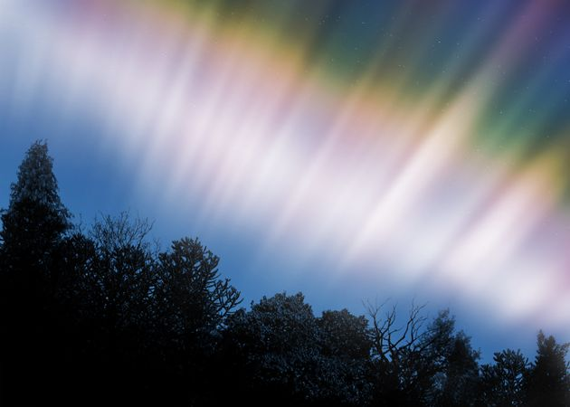 The Northern Lights form when electrons rain down on the