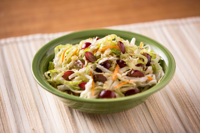 """<a href=""""http://www.grapesfromcalifornia.com/recipes/recipe.php?id=294"""">Grape Ginger Slaw</a>"""