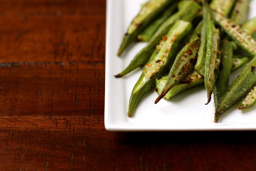"""<a href=""""http://marisamoore.com/2015/06/roasted-okra-with-chili-oil/"""" target=""""_blank"""">Roasted Okra with Chili Oil</a>"""