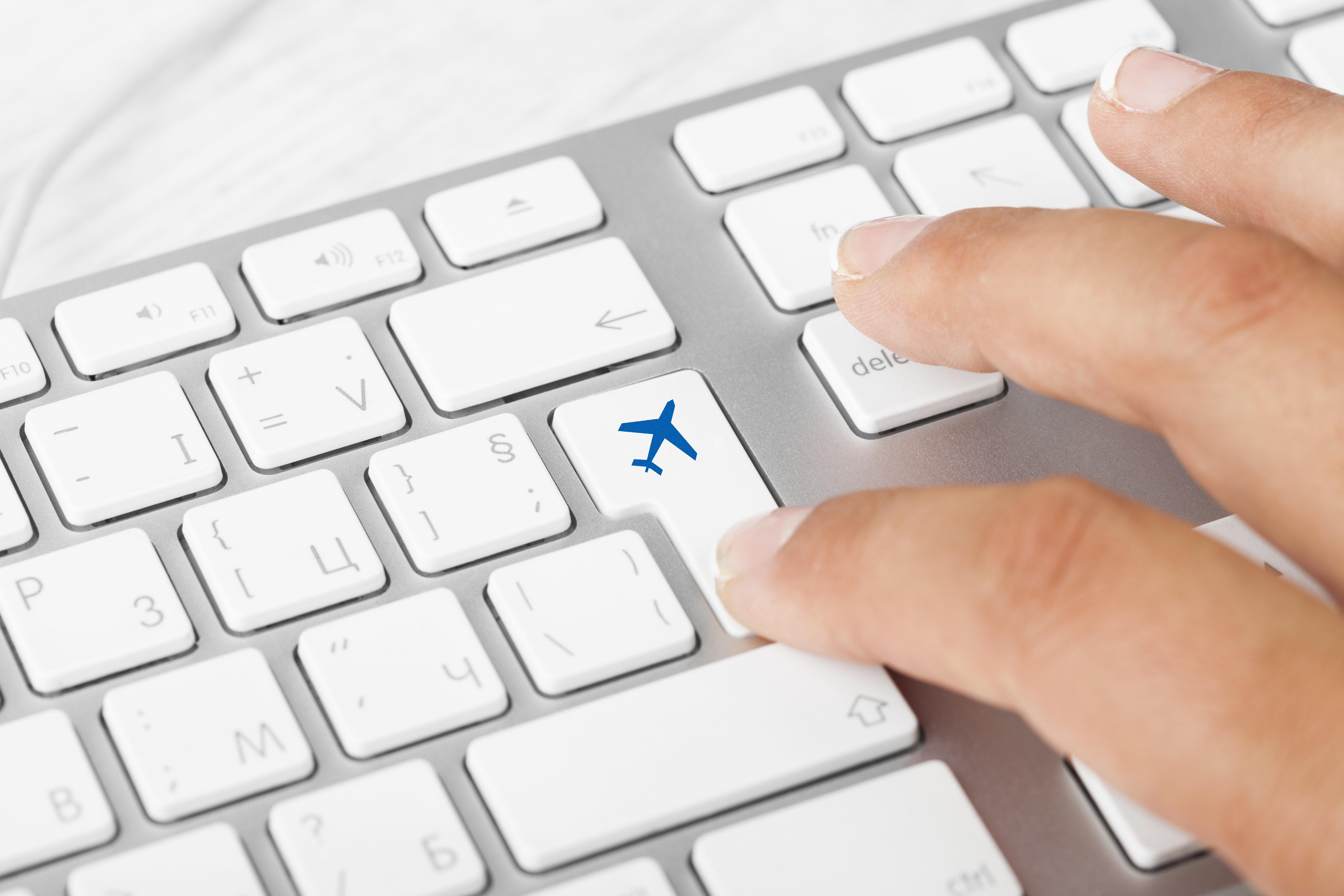 Plane Key On Computer Keyboard