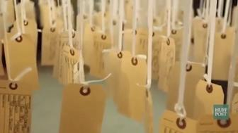 """Ann Lewis' art installation, titled """"and counting,"""" showcases the hundreds of lives that have been lost at the hands of police in 2016 thus far."""