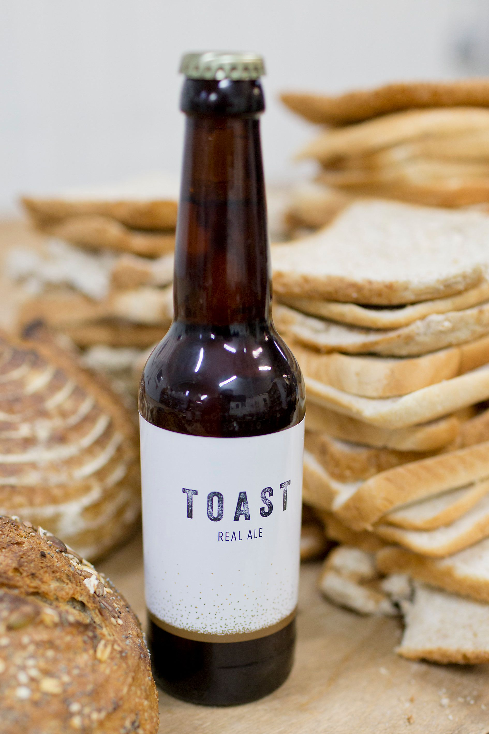 About one slice of bread is used for each bottle of Toast Ale that is produced.
