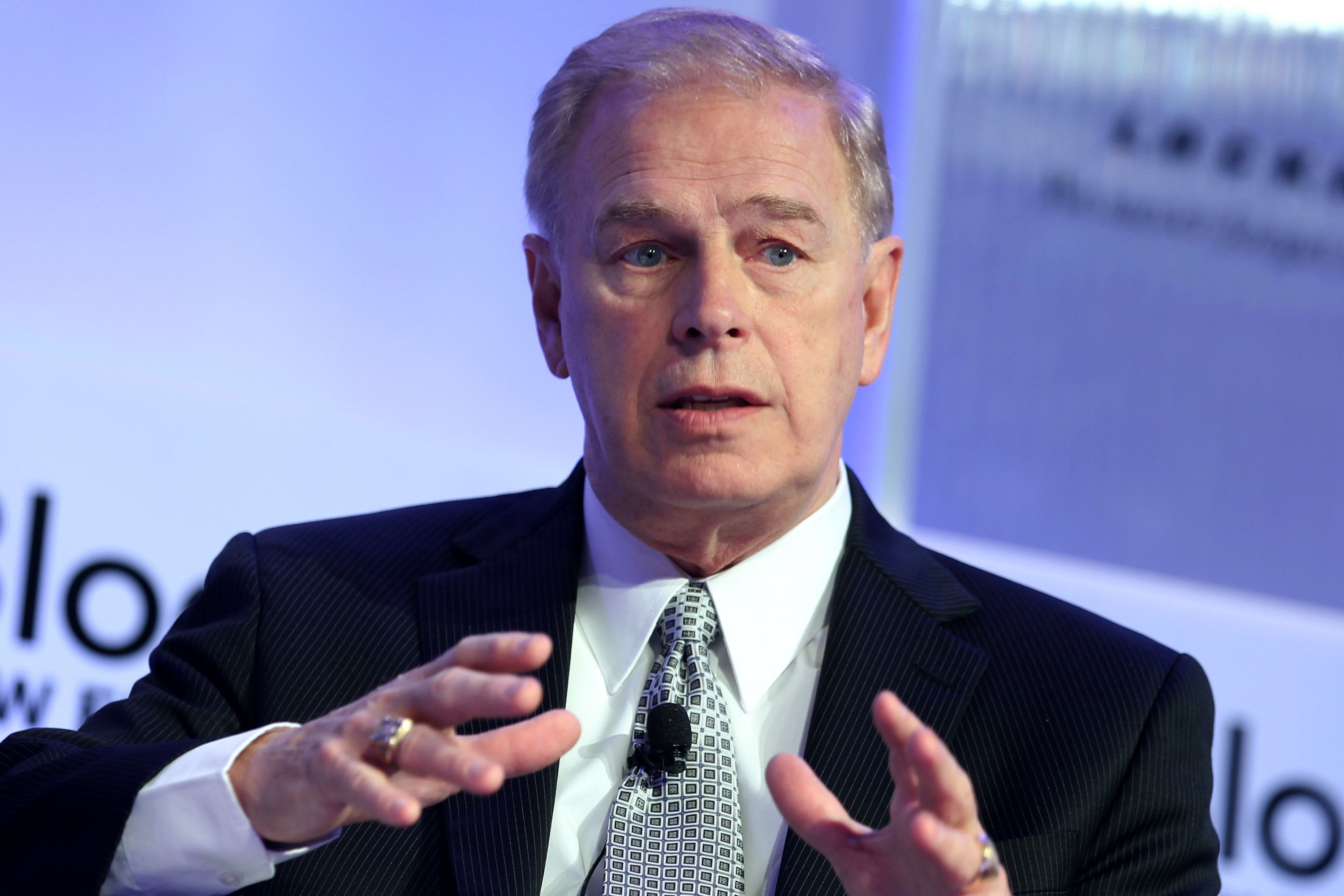 Ted Strickland, former Governor of Ohio, speaks during the Bloomberg New Energy Finance Summit in New York, U.S., on Tuesday, April 5, 2011. Bloomberg New Energy Finance provides industry information and analysis to investors, corporations and governments in clean energy, low carbon technologies and the carbon markets. Photographer: Jin Lee/Bloomberg via Getty Images