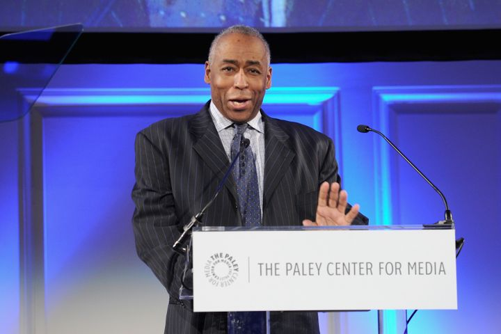 John Saunders speaks on stage at the Paley Prize Gala, May 28, 2014, in New York City.