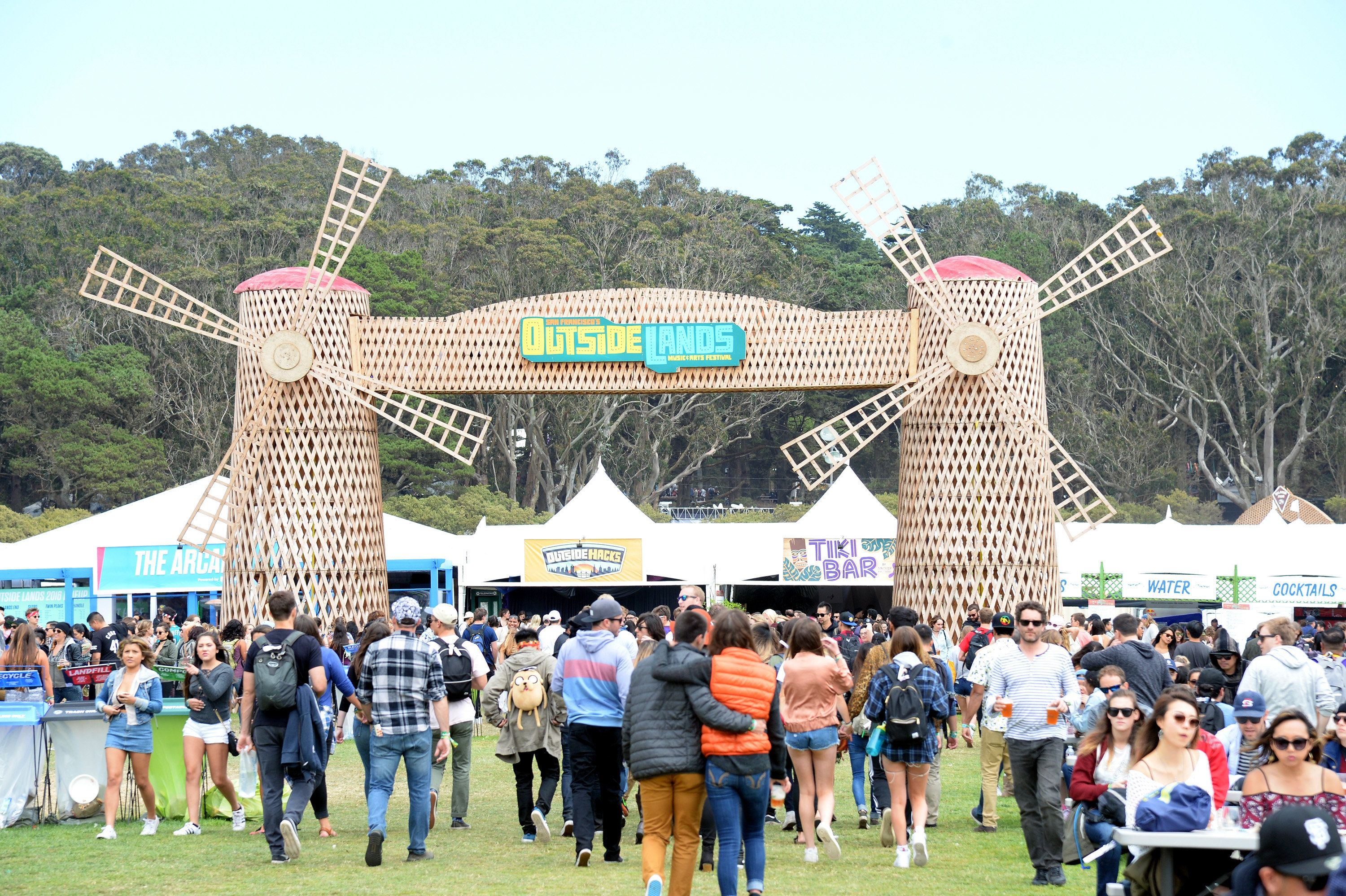 SAN FRANCISCO, CA - AUGUST 07:  Festival goers are seen under the Windmill during the 2016 Outside Lands Music And Arts Festival at Golden Gate Park on August 7, 2016 in San Francisco, California.  (Photo by Jeff Kravitz/FilmMagic)