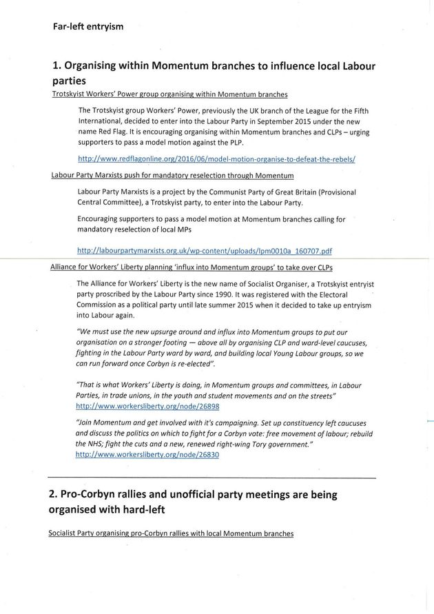Tom Watson Sends Dossier Of Hard-Left Entryism To Jeremy