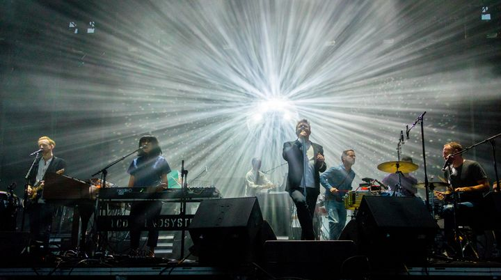 James Murphy of LCD Soundsystem performs on Day 1 of Outside Lands Music & Arts Festival.