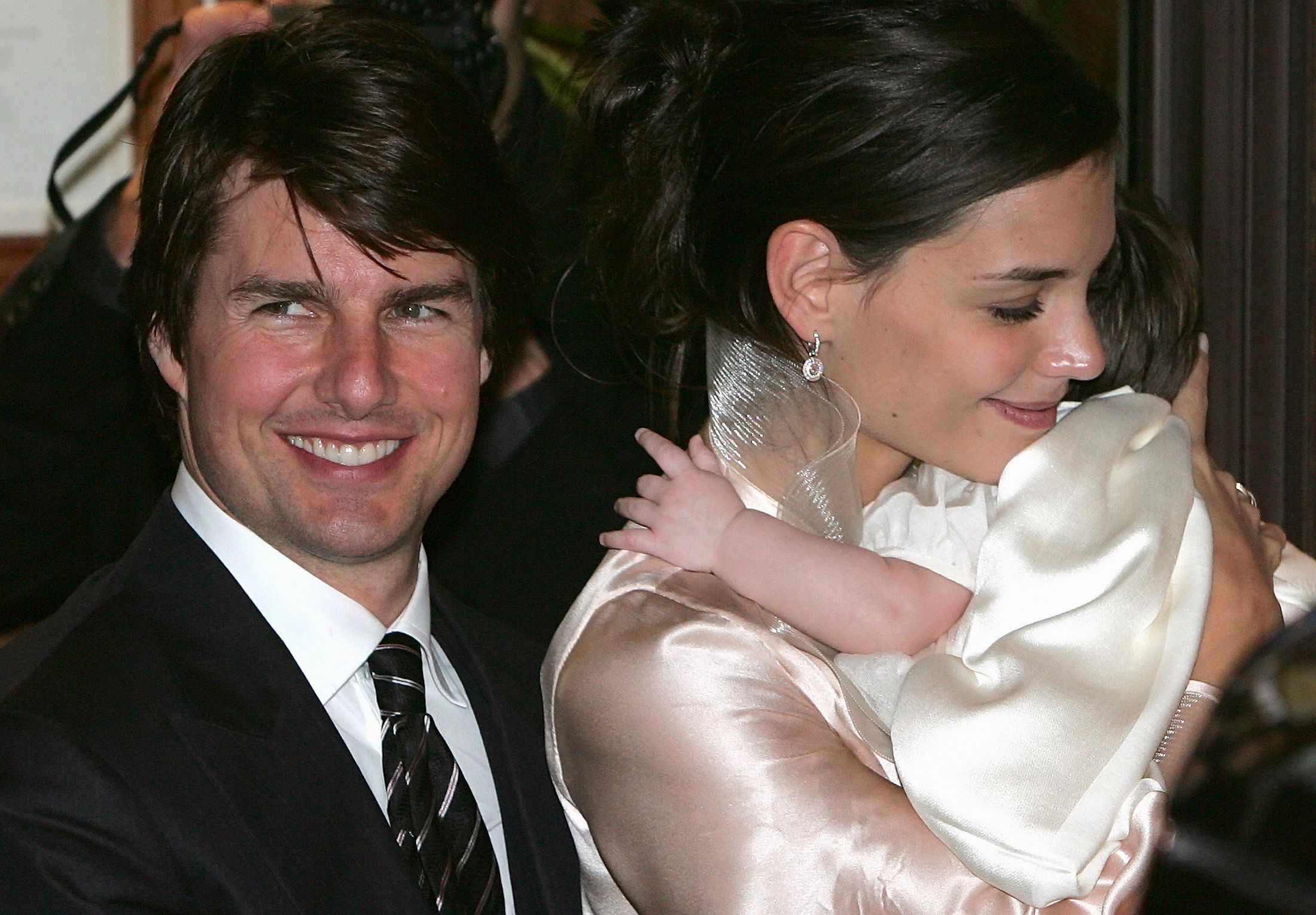 Tom Cruise and Katie Holmes with Suri in November 2006.