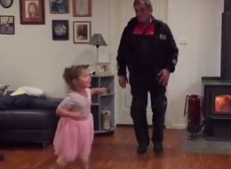 Grandpa And Little Girl Dancing To 'Let It Go' Will Melt Your Heart