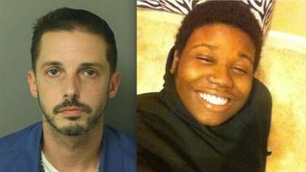 Chad Copley (left) allegedly shot and killed Kouren Thomas from inside his garage on Sunday.