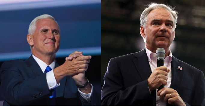Mike Pence's favorability rating is improving faster than Tim Kaine's post-conventions.