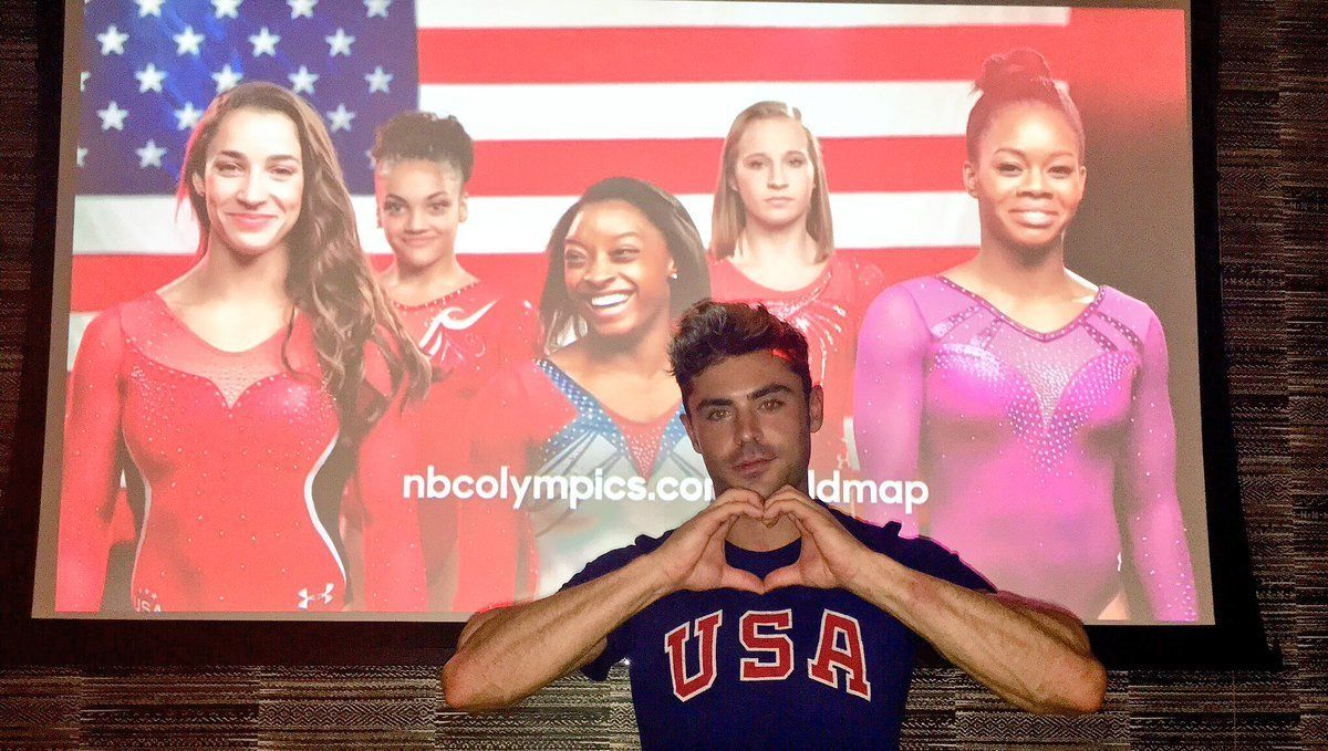Simone Biles And Zac Efron Are Flirting On Twitter, And We're