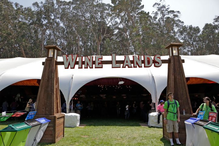Outside Lands' Wine Lands, where festival-goers could taste offerings from dozens of wineries.