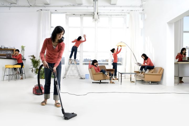 When it comes to housework, one person can't do it all.