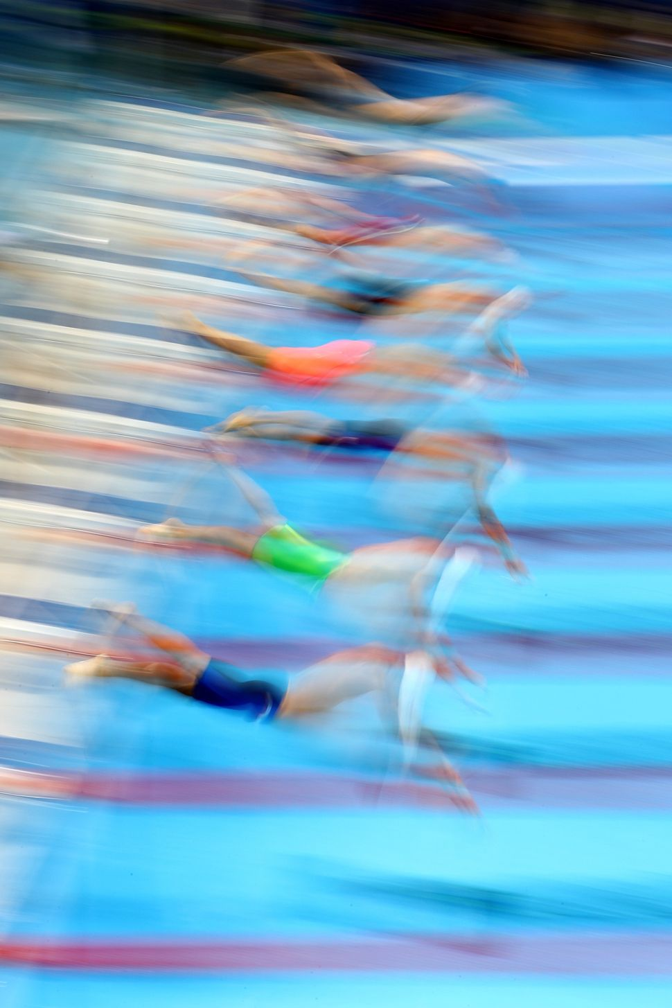 Yang Sun of China competes in heat six of the Men's 400m Freestyle on Day 1 of the Rio 2016 Olympic Games.