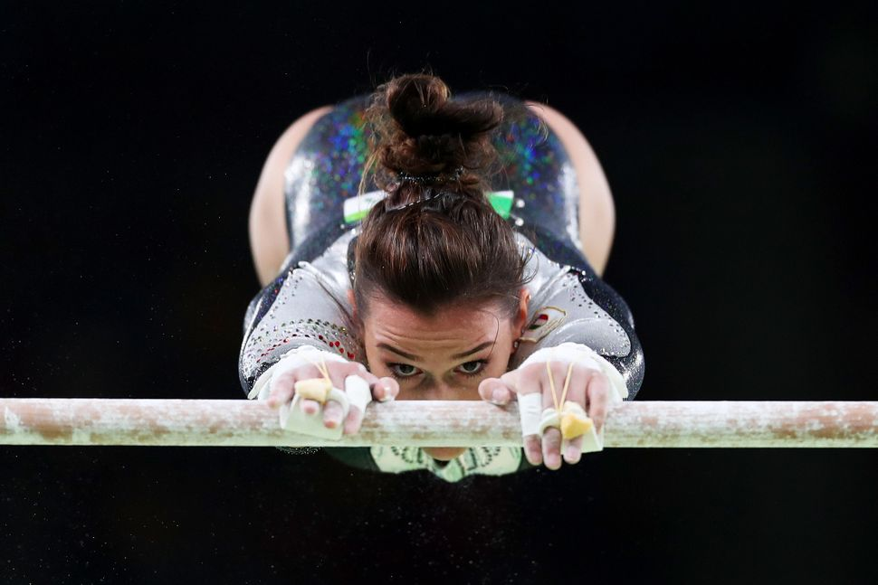 Erika Fasana of Italy competes on the uneven bars during women's qualification for Artistic Gymnastics on Day 2 of the Rio 20