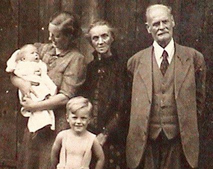 My father,with mom, grandparents, and infant sister