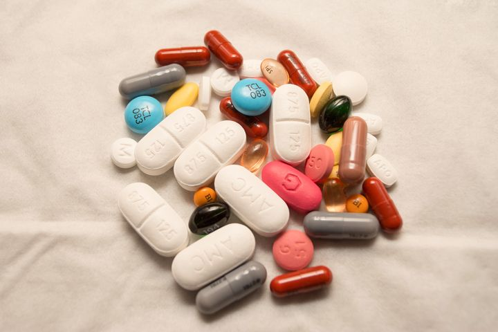 A photo of some of the many medications I need to keep my heart beating and body running everyday.
