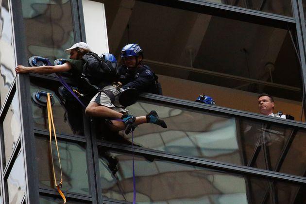 Man Climbs Trump Tower in Manhattan in Order to Meet Trump