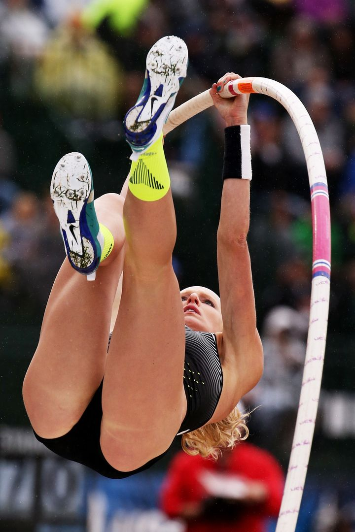 USA pole vaulter Sandi Morris says a lot of emotions can make it difficult to sleep ahead of competition, so she tries her best to take her mind off her stress.