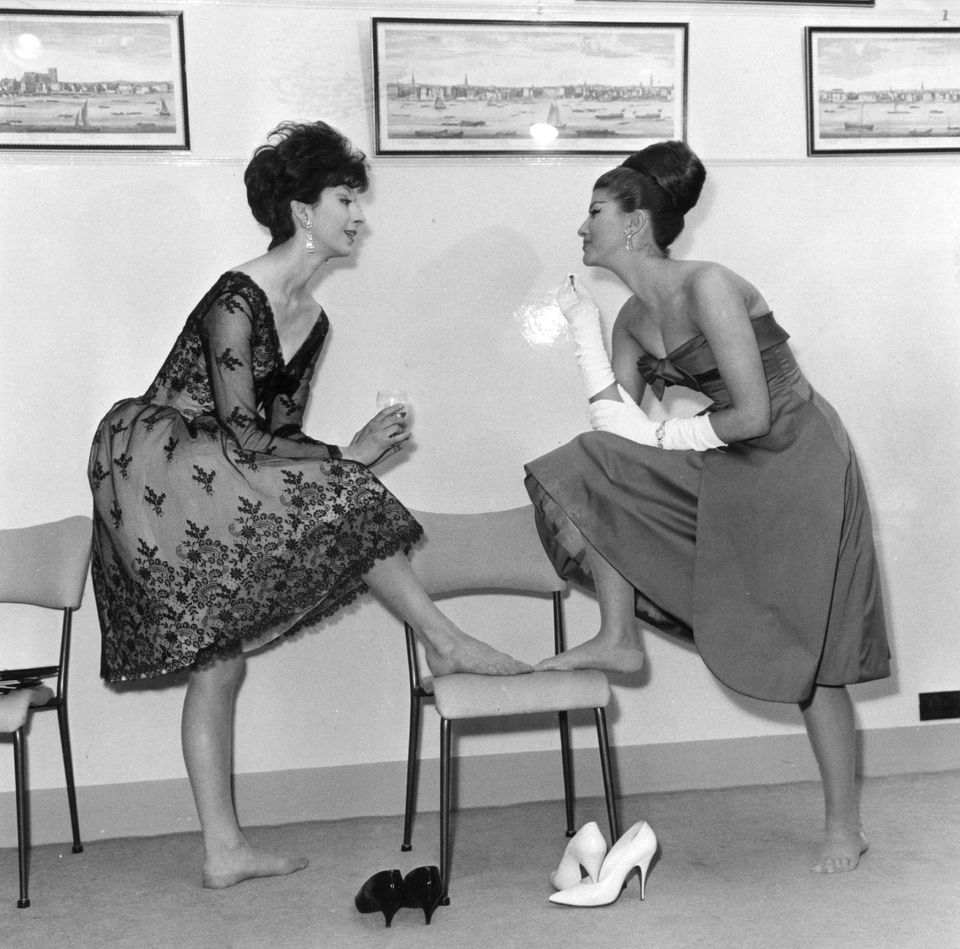Two models at the Susan Small Fashion Show, 1960.