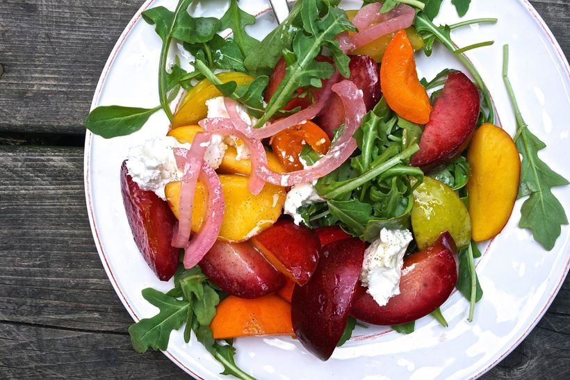Stone Fruit Goat Cheese Salad