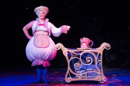 Stephanie Gray (Mrs. Potts) and Kadence Edwards <br>(Chip) in a&nbsp;scene from <strong><i>Beauty and the Beast</i></strong>&