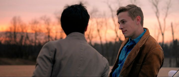 Matthew Frias and Edmund Donovan in a scene from <strong><i>Akron</i></strong>