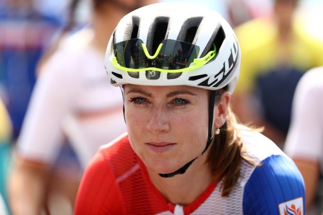 Netherlands' Annemiek Van Vleuten was seriously injured after falling from her bike in the women's road...