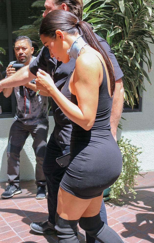 Kim Kardashian Shows Off Her 'Photoshopped' Waist In