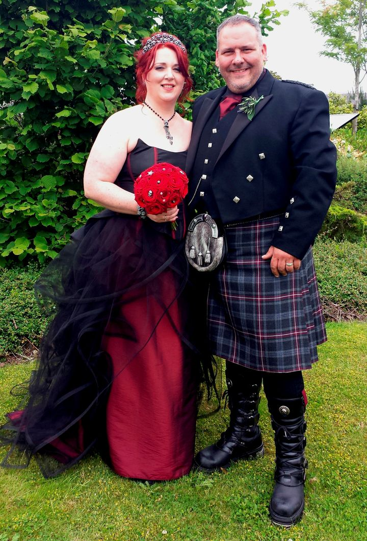 Mark and Louise Hannigan prior to their weight loss.
