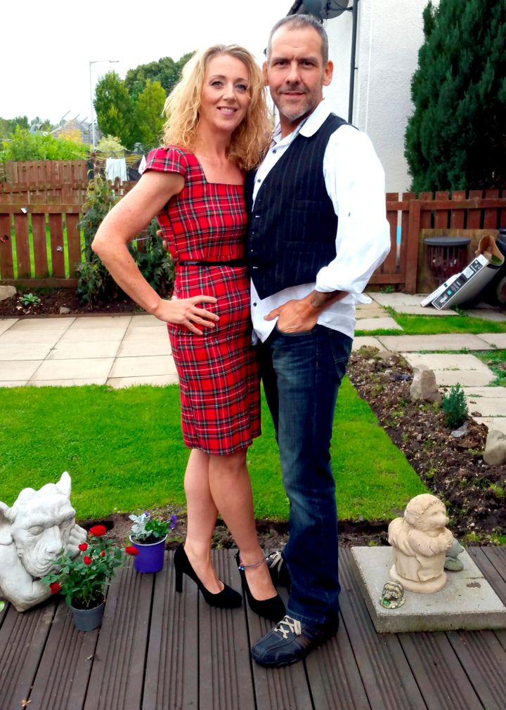 Mark and Louise Hannigan following their combined weight loss of 15 stone.