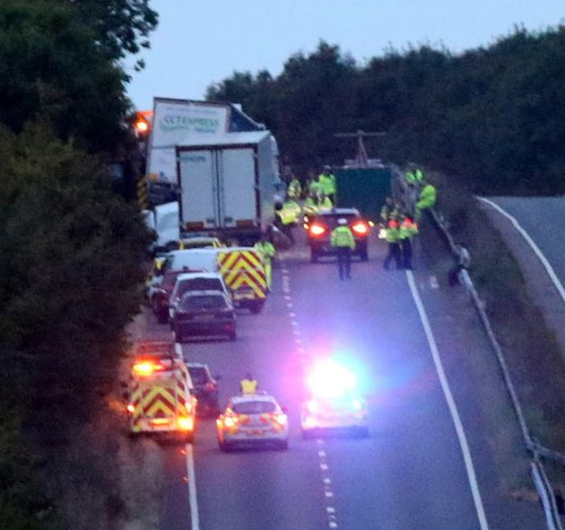 Three children were among the four who died in a huge pile-up on the A34 on Wednesday