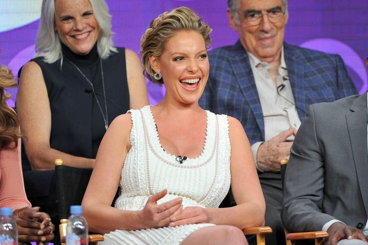 Katherine Heigl attends the CBS 2016 Summer TCA Panel.