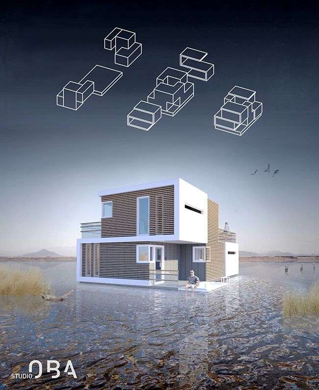 This Floating House Is Designed To Split In Two After