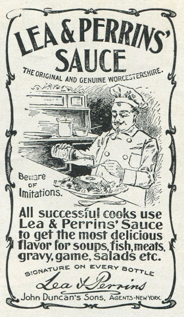 An ad for Lea & Perrins' Worcestershire Sauce from