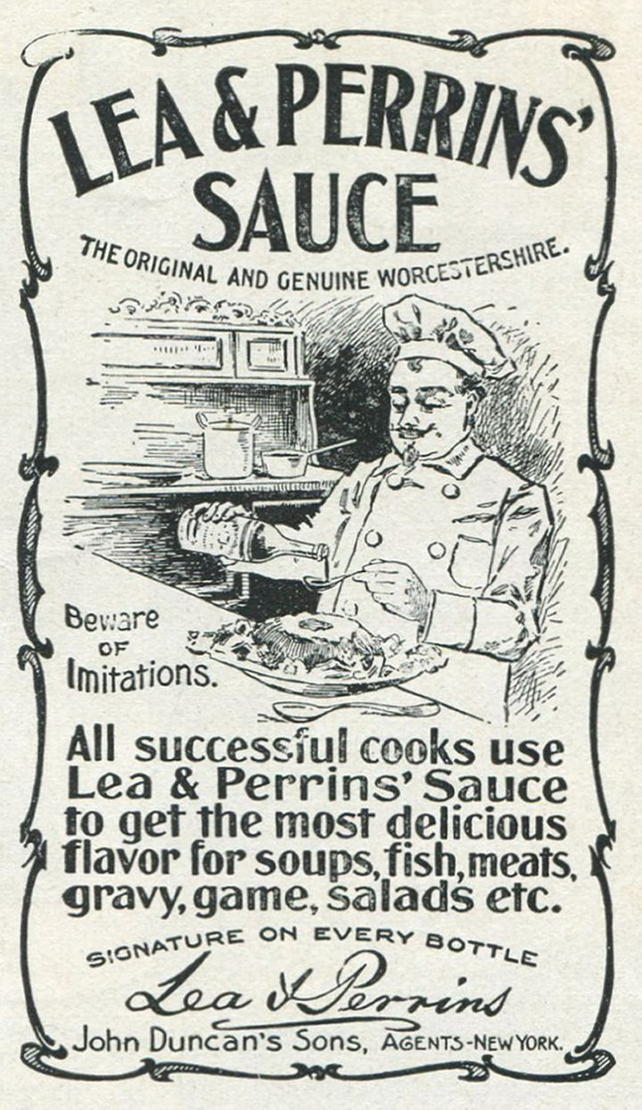 An ad for Lea & Perrins' Worcestershire Sauce from 1901.