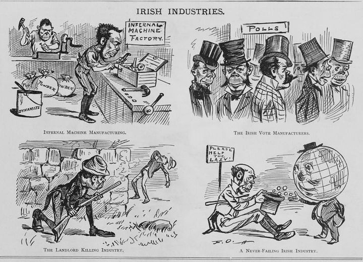 """This infamous&nbsp;<a href=""""http://openborders.info/blog/tag/crime/"""" rel=""""nofollow"""">1881 cartoon</a> vilified Irish immigrant"""