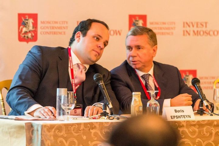 Boris Epshteyn, a Trump campaign adviser and surrogate, and Sergey Chemerin, a Moscow city official, at a panel promotin