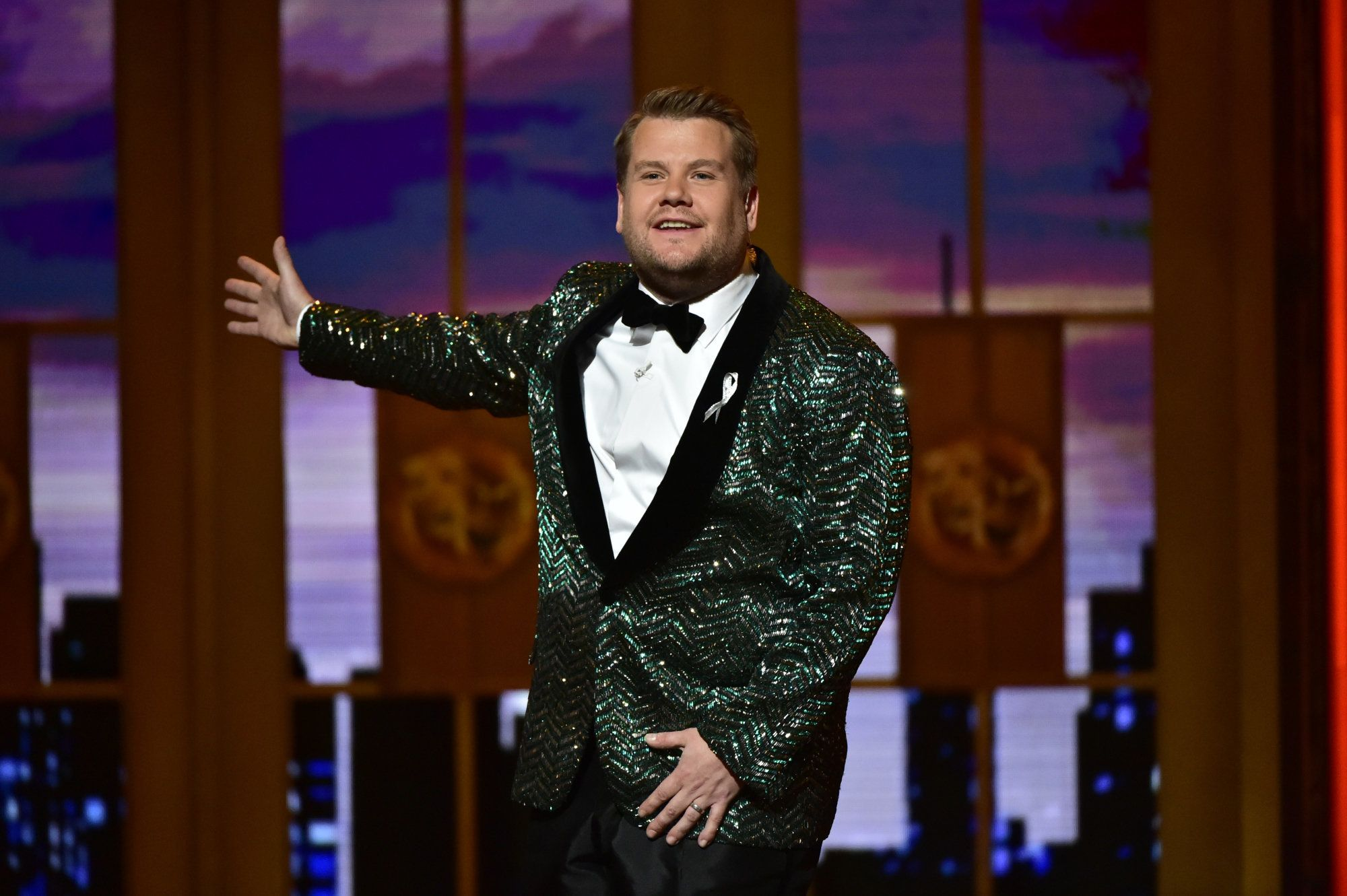 James Corden at The 70th Annual Tony Awards, live from the Beacon Theatre in New York City, Sunday, June 12, 2016.