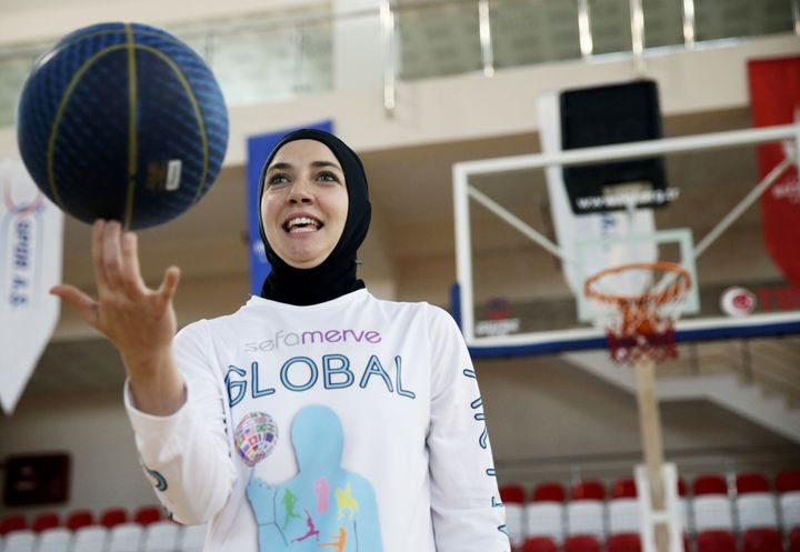 Bosnian professional basketball player Indira Kaljo, 27, received approval from FIBA to wear her hijabduringa two