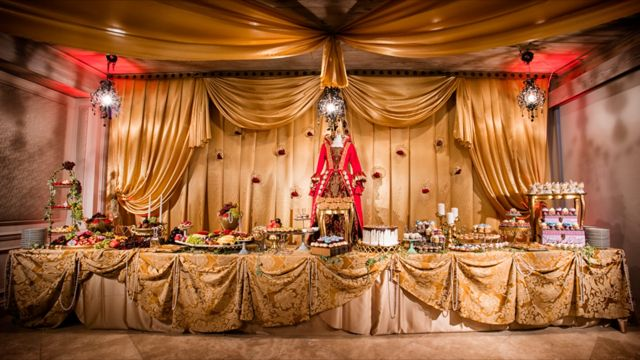 The Solano Ballroom was transformed into a miniature Versailles for the celebration.