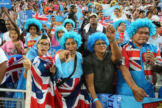 Fiji's Celebration After Beating Team GB In The Rugby Sevens Was